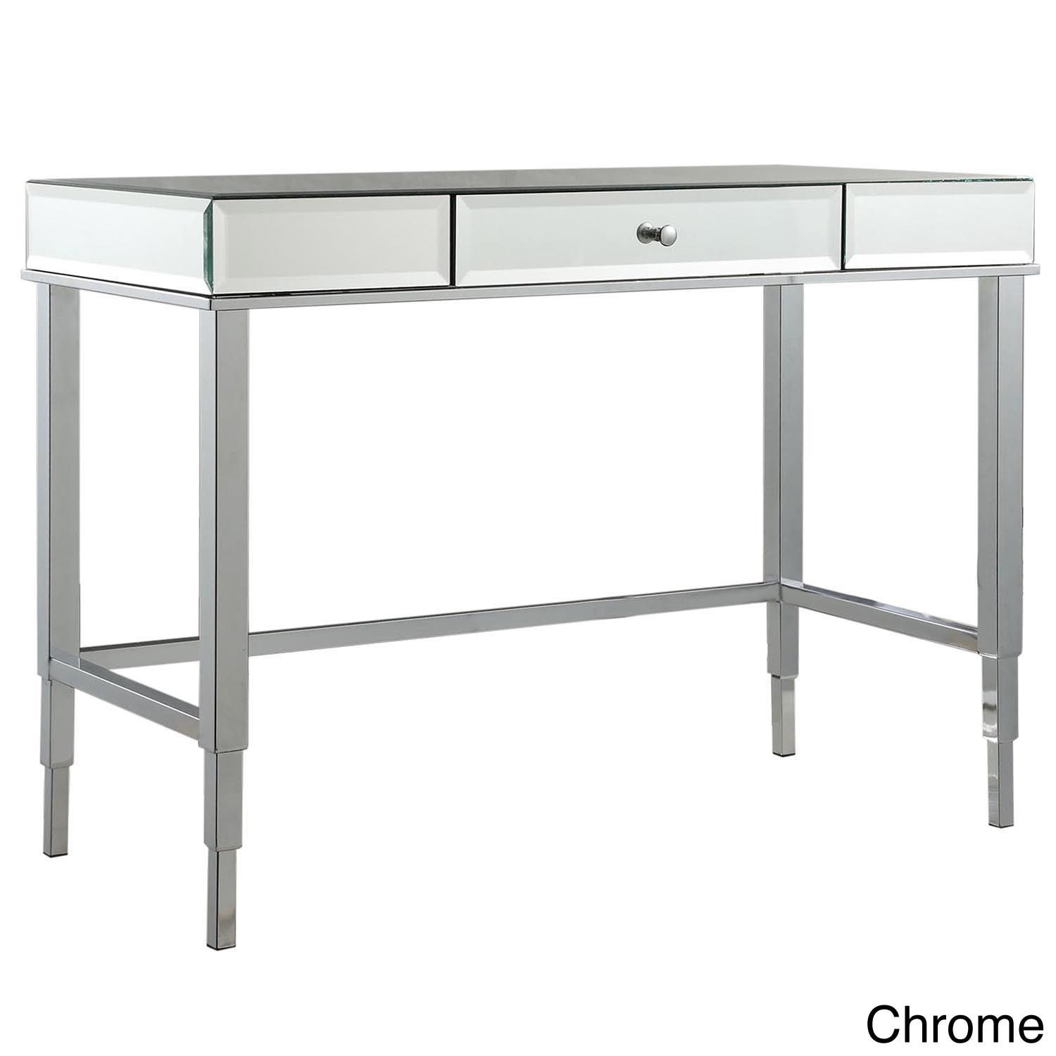 Camille Beveled Mirrored Accent 1-drawer Office Writing Desk by Inspire Q  (Ch