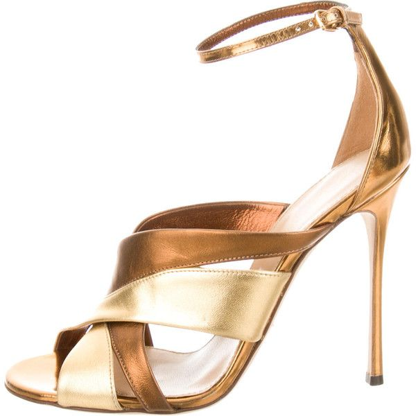 Pre-owned - Gold Sandals Sergio Rossi Discount Codes Shopping Online Choice Countdown Package Cheap Price bdWoeEL2