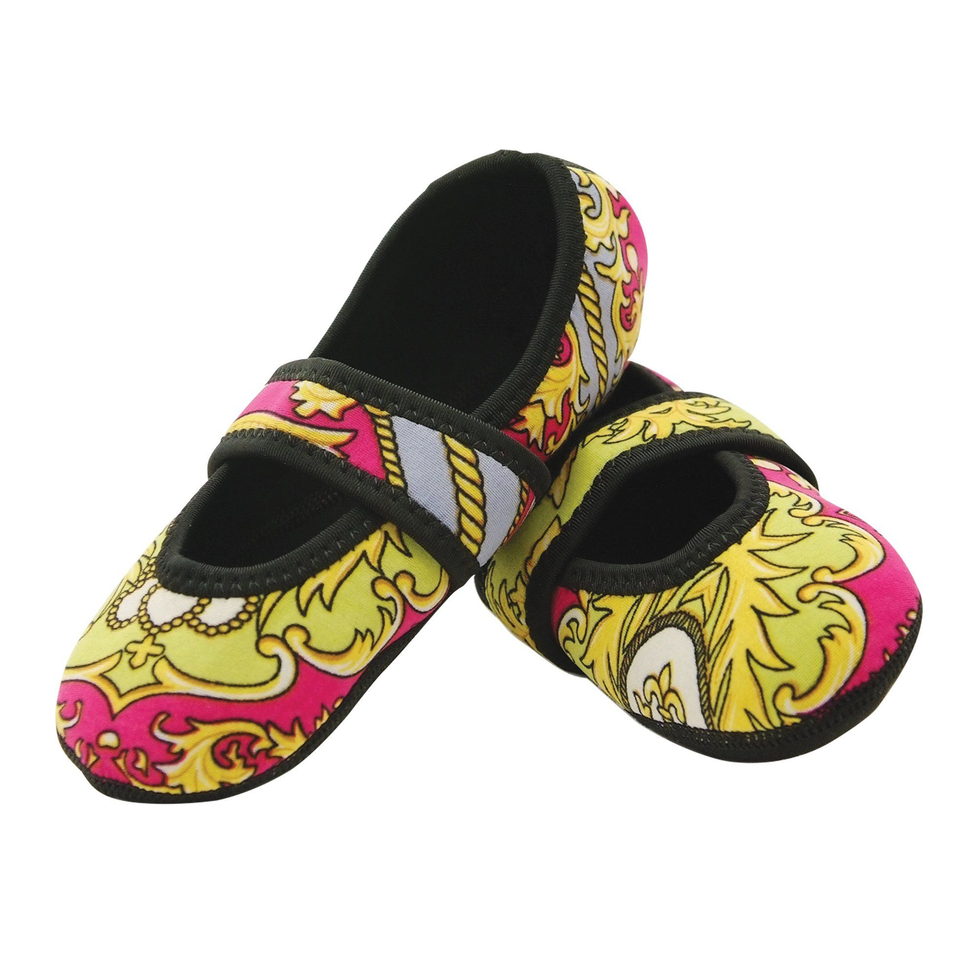 Nufoot Pink Baroque Betsy Lou Medium Slippers