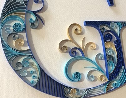 """Check out new work on my @Behance portfolio: """"Quilling Monogram G"""" http://be.net/gallery/41311383/Quilling-Monogram-G"""