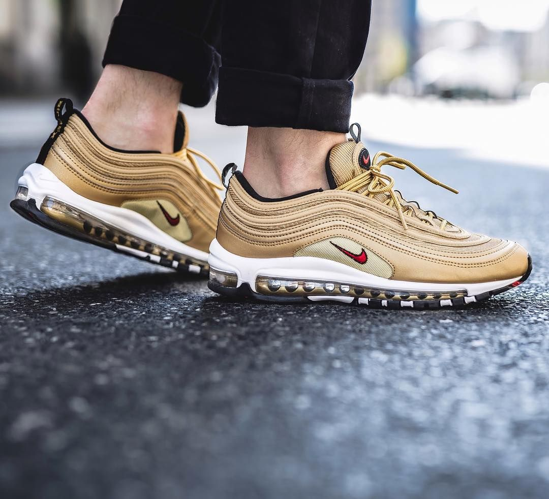 Nike Air Max 97 Og Qs Metallic Gold Avaliable In Store And Soon Online At Www Streetsupply Pl Nike Air Max 97 Nike Air Max Nike