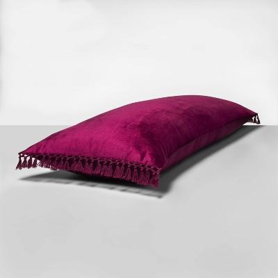 Crochet Trimmed Velvet Body Pillow