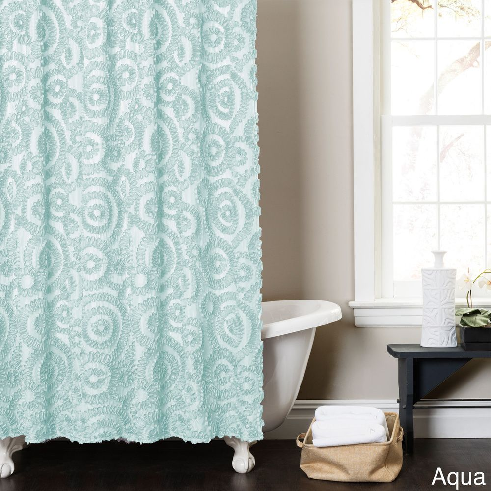 Lush Decor Stella Shower Curtain - Overstock™ Shopping - Great Deals on Shower Curtains