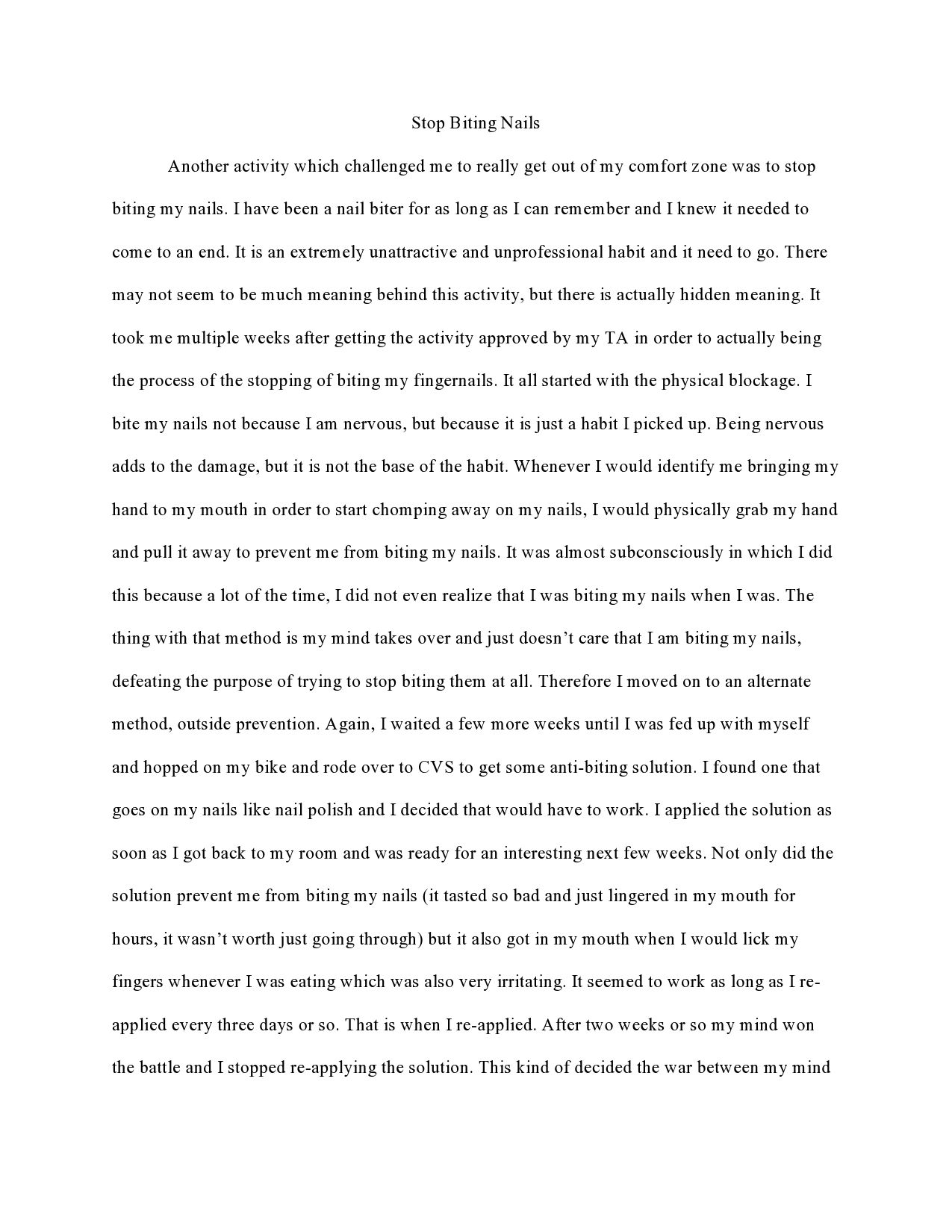 Page 1 Of Reflection Essay Philosophy Informative About