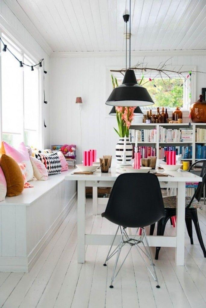 bænk #spiseplads #spisebord #indretning #Indbygget bænk #indbygning ...