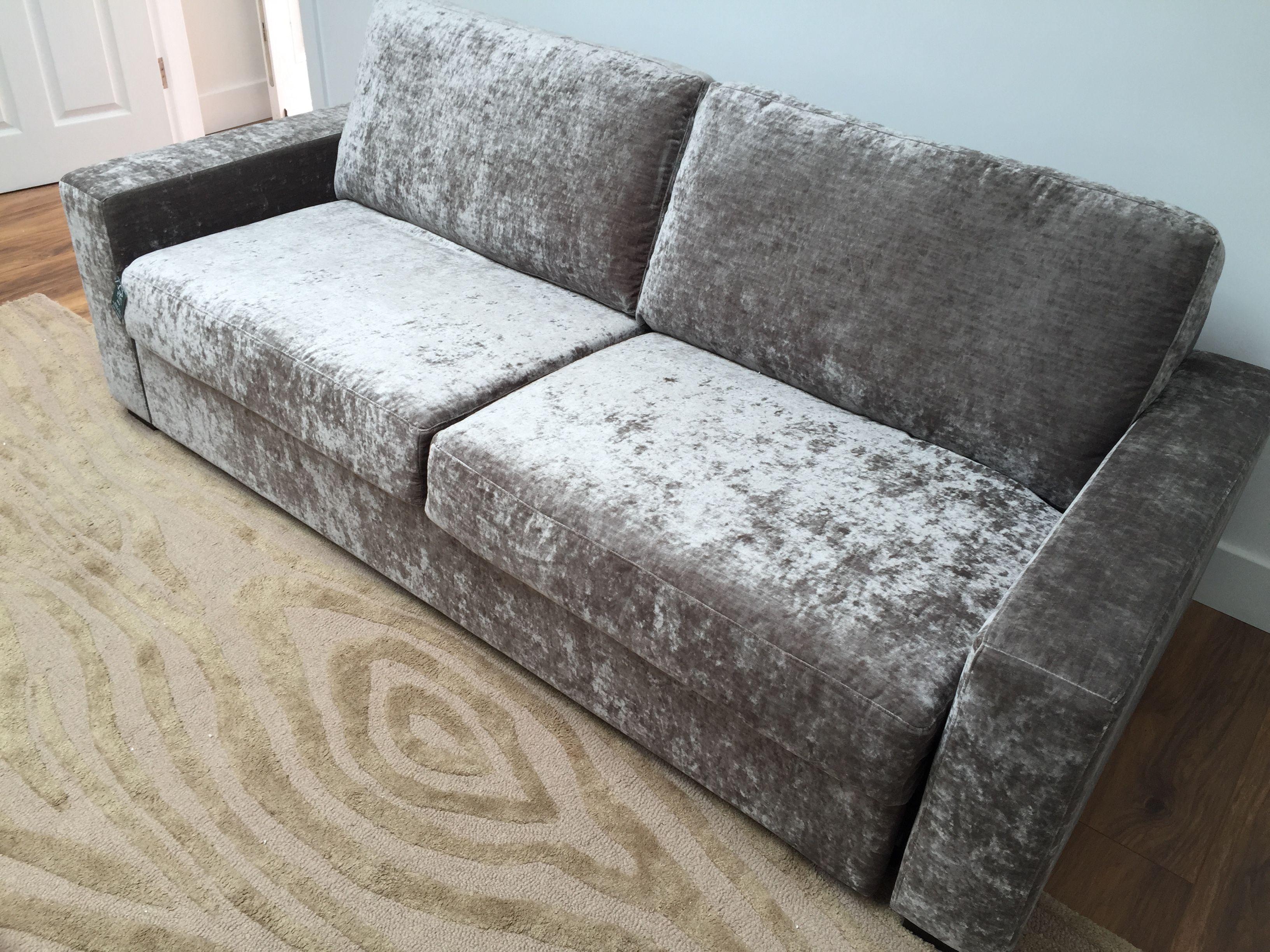160 cm mattress / 216 cm wide sofa bed in Modena washable ...
