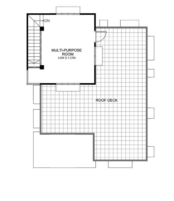 Maryanne One Storey With Roof Deck Shd 2015025 Pinoy Eplans Small House Design One Storey House 2 Bedroom House Design