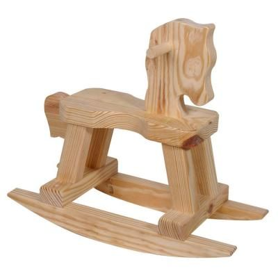 Wood rocking horse 94564 at the home depot kit for 37 for Small wooden rocking chair for crafts