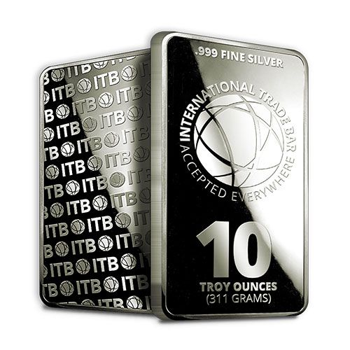 The 10 Oz International Trade Bar Contains 10 Troy Ounces Of 999 Fine Silver The International Trade Bullion Itb Silver Silver Bars Silver Bullion Silver