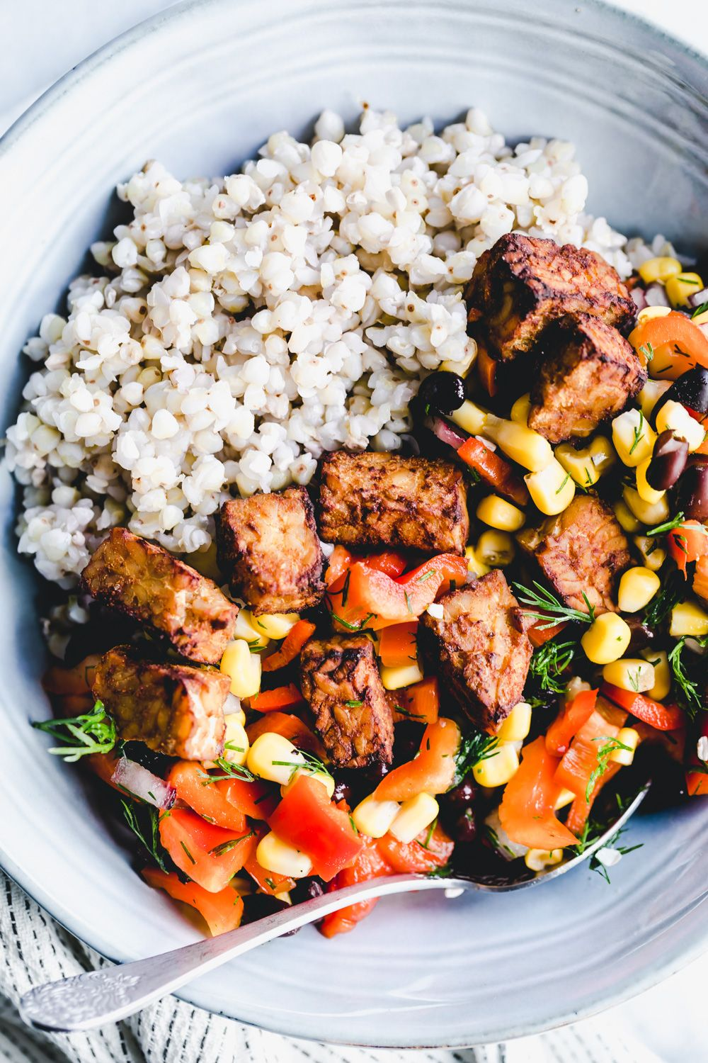 Easy Baked Tempeh The Green Creator Easy Baked Tempeh Recipe In 2020 Baked Tempeh Vegan Recipes Healthy Vegan Fast Food