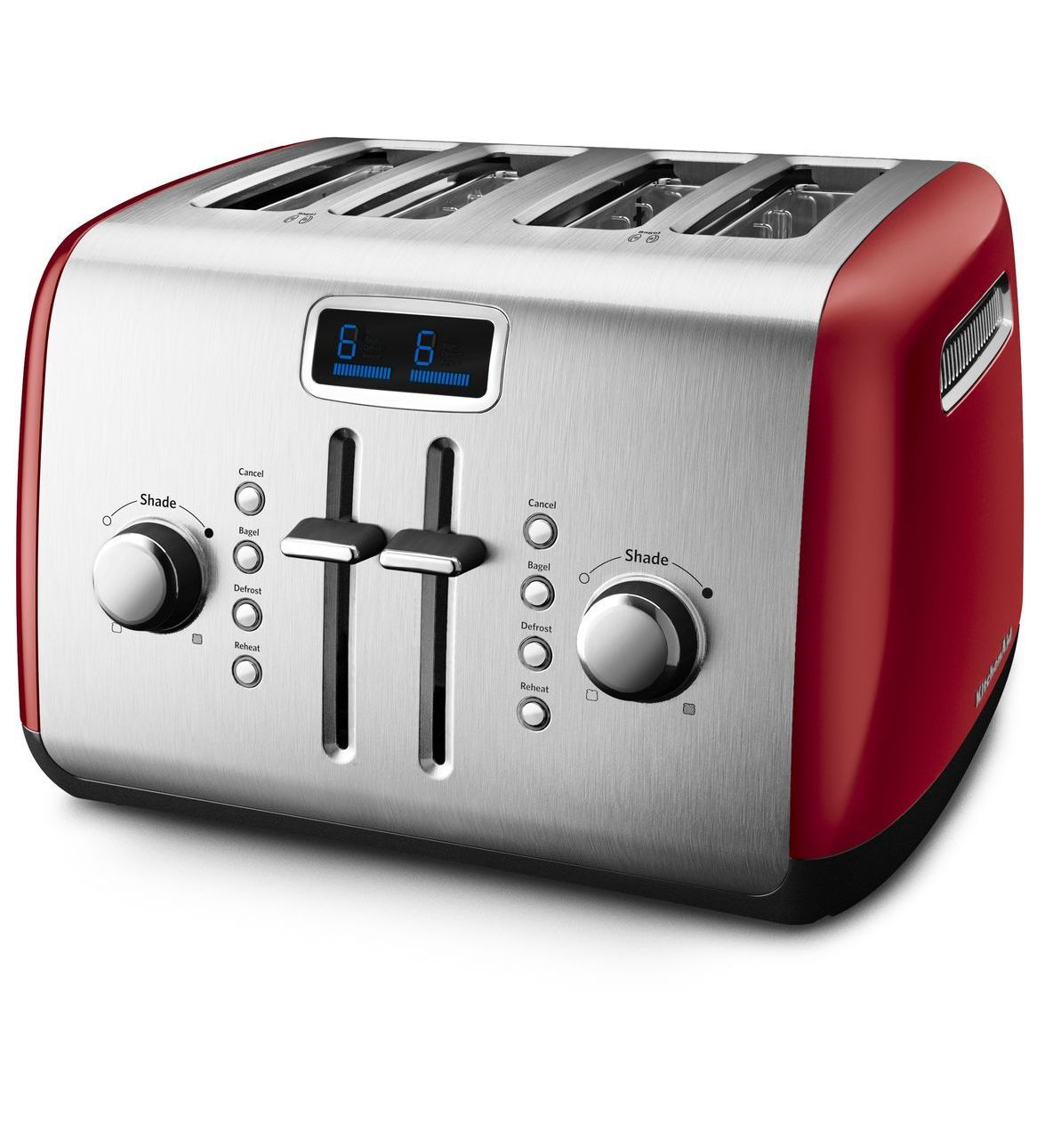 Empire red kitchenaid 4slice toaster with manual high