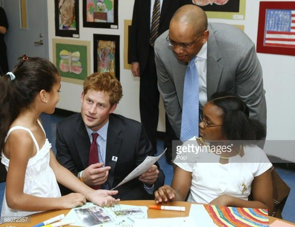 Britain's Prince Harry arrives for a tour of the Harlem Children's... News Photo | Getty Images