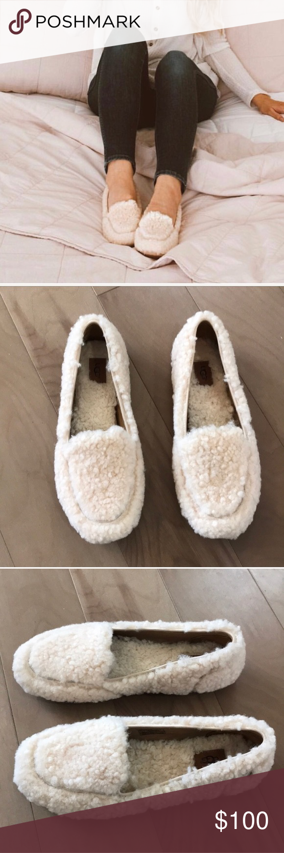 5b42c8656c1 Brand New Sherpa Ugg Hailey Fluff Loafer/ Slippers Brand new, only ...
