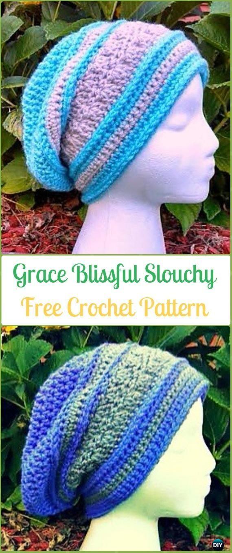 Crochet Grace Blissful Slouchy Free Patterns -Crochet Slouchy Beanie ...