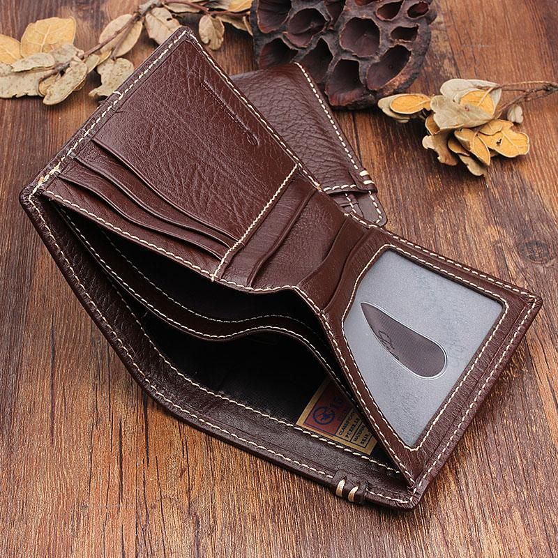 550c8b48743c Overview: Design  Handmade Leather Mens Cool Slim Leather Wallet Men Small  Wallets Bifold for MenIn Stock  Ready to Ship (2-4 days)Include  Only ...