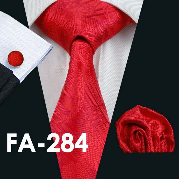 55b7a16e56bc FA-506 Gents Necktie Brown Paisley 100% Silk Jacquard Tie Hanky Cufflinks  Set Business Wedding Party Ties For Men Free Shipping