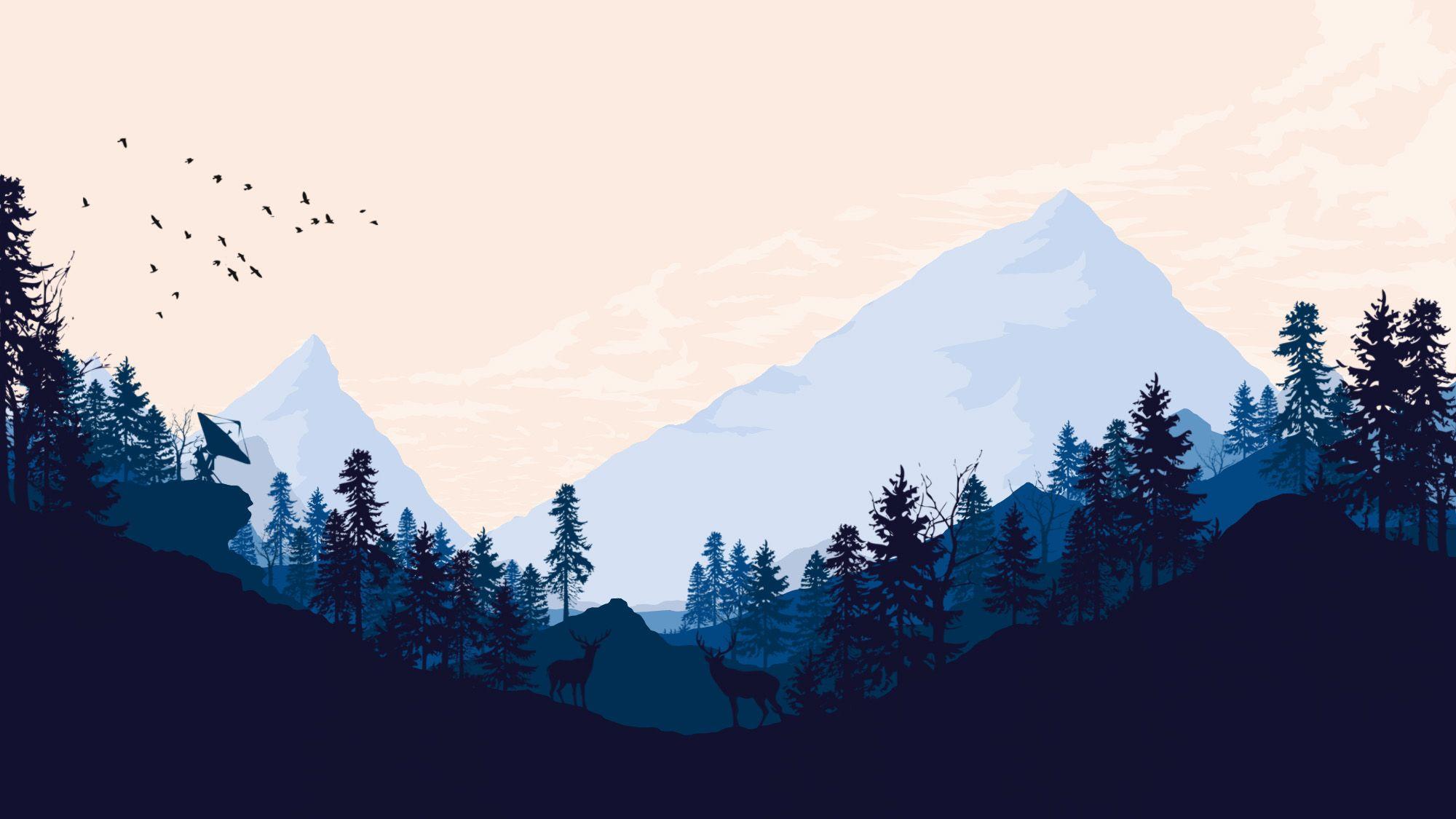 Played Firewatch got inspired. Landscape wallpaper
