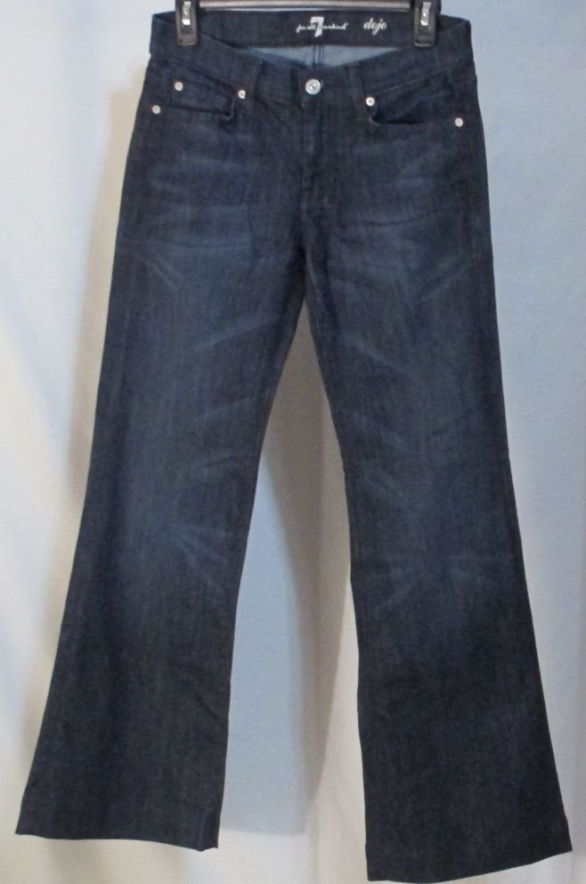 Womens Dojo Jeans Size 27 X 30 Denim Seven For All Mankind 7 Flare