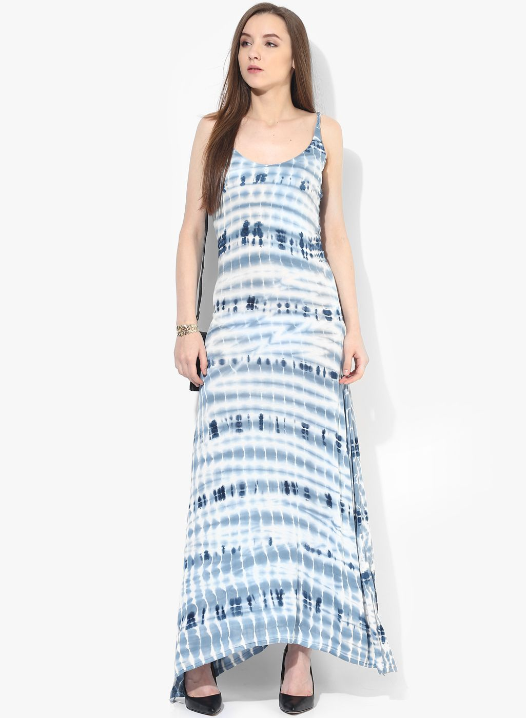 67e084db15 Alia Bhatt For Jabong Light Blue Printed Sleeveless Maxi Dress #Blue #Maxi  #Summer