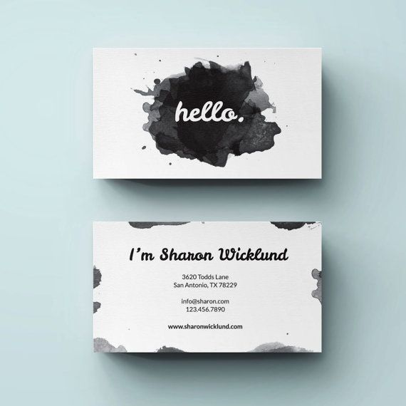 Premade Business Card Template Small Business Card By LucaLogos - Small business card template