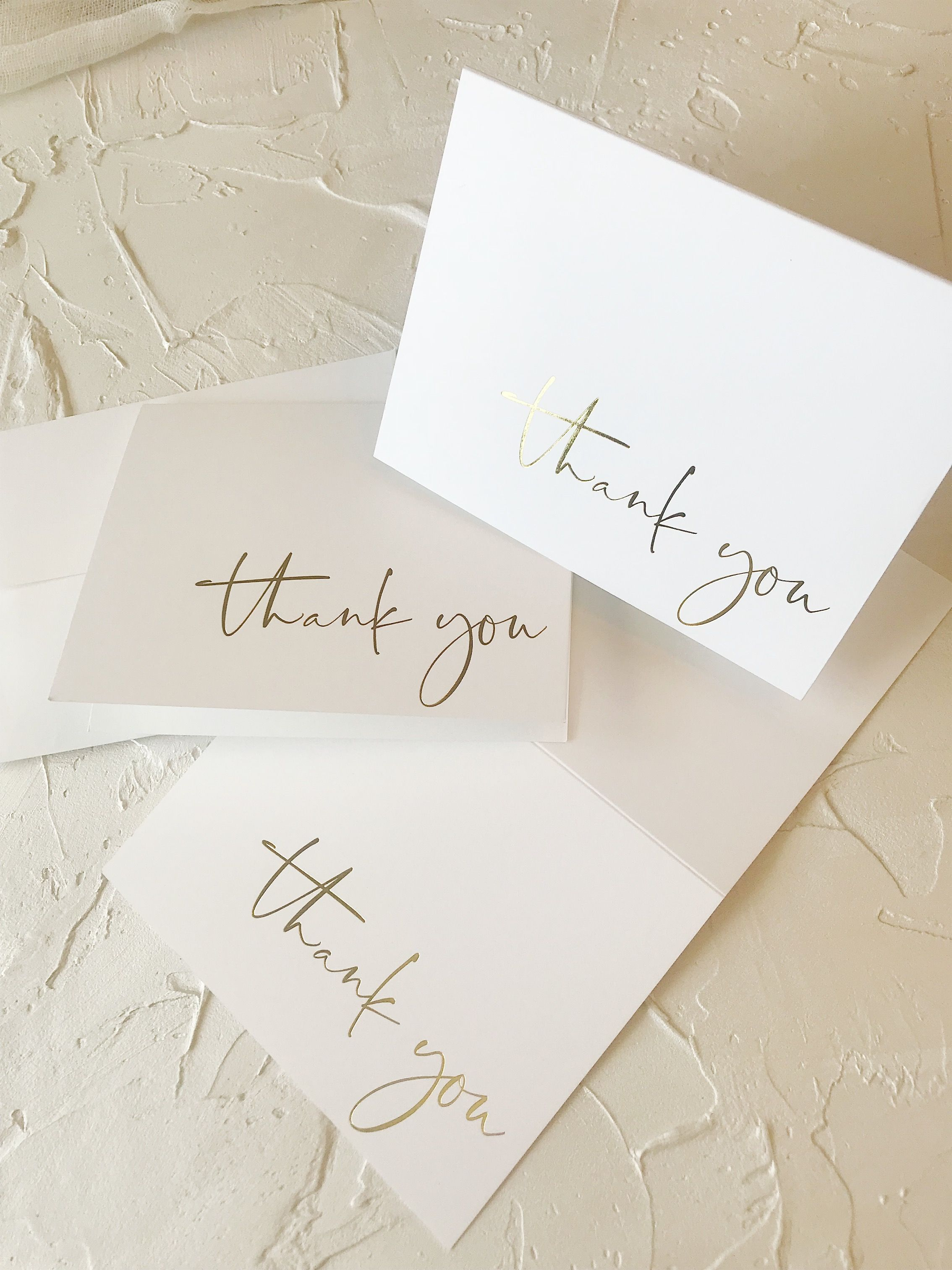 Gold Foil Thank You Cards Custom Thank You Cards Gold Foiling