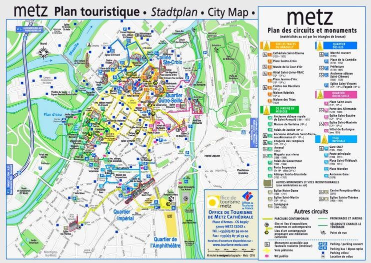 Metz tourist map Maps Pinterest Tourist map France and City