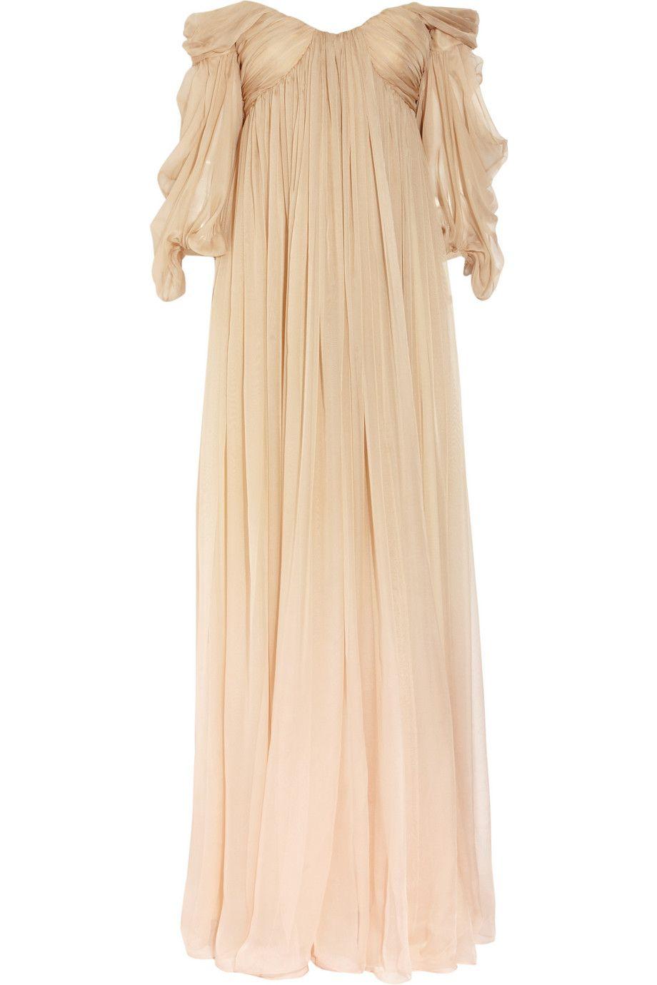 Alexander Mcqueen Degradé Silk Chiffon Gown in Beige   Lyst ; $2477