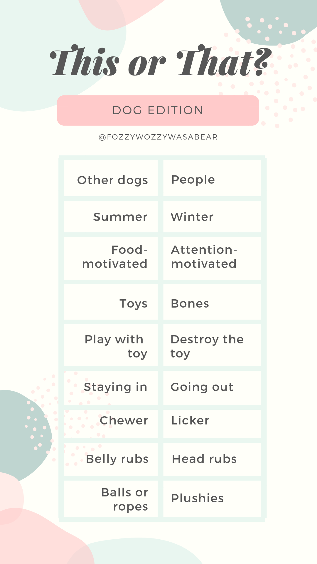 Instagram Story Template For Dogs And Dog Moms From Fozzywozzywasabear Instagramstories Storytemplate Instagram Story Instagram Story Template Dog Template