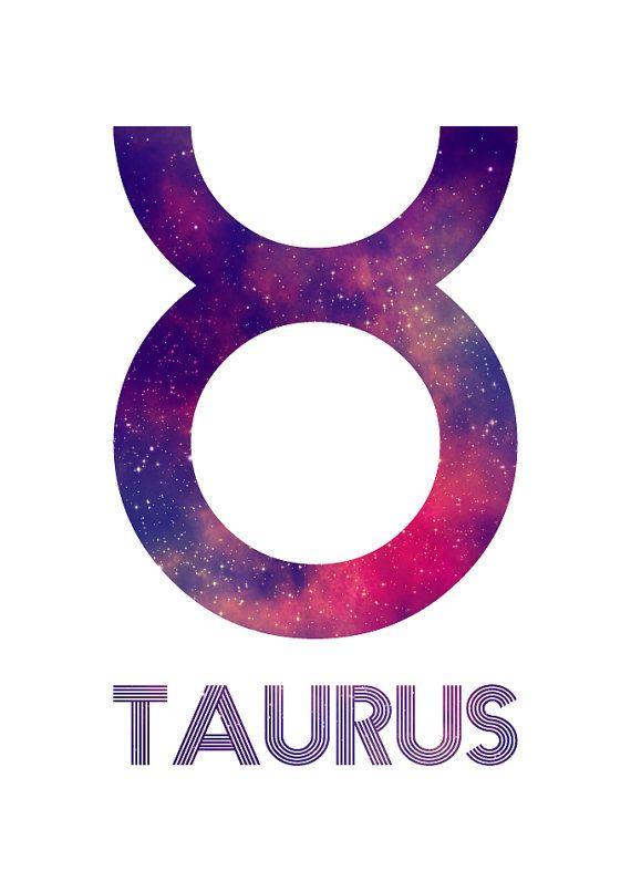 Taurus Zodiac Star Sign Horoscope Symbol Galaxy by LochnessStudio