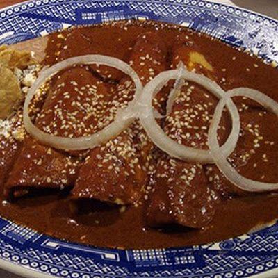 Enchiladas de Mole | Recetas de comida mexicana, Receta de ...