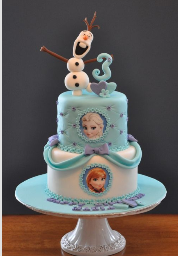 Frozen Cake Simple Design : Disney s Frozen themed cake design Pasteles Pinterest ...