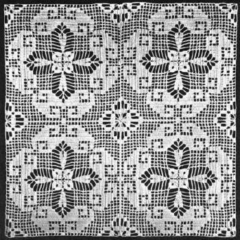 Greek Key Motif Bedspread Vintage Crochet Pattern for download ...