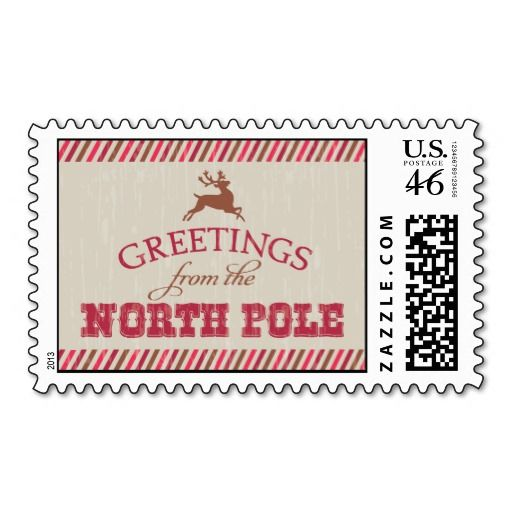 Greetings from the north pole postage pinterest north pole greetings from the north pole postage northpole reindeer christmas m4hsunfo