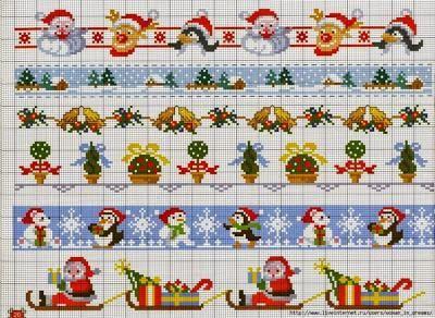 Piccoli E Facili Schemi A Punto Croce Dedicati Al Natale Natale