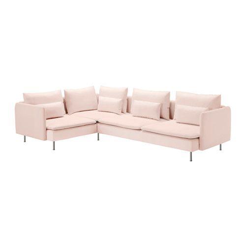 Ikea Ecksofa söderhamn sectional 4 seat corner samsta light pink samsta light