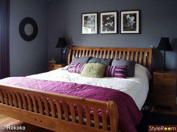 Brown And Black Against The Grey Gray Bedroom Walls Gray Bedroom Discount Bedroom Furniture