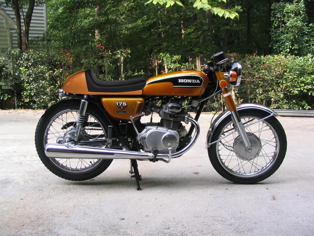 Gold Cb175 Vintage Honda Motorcycles Honda Bikes Honda Cb [ 768 x 1024 Pixel ]
