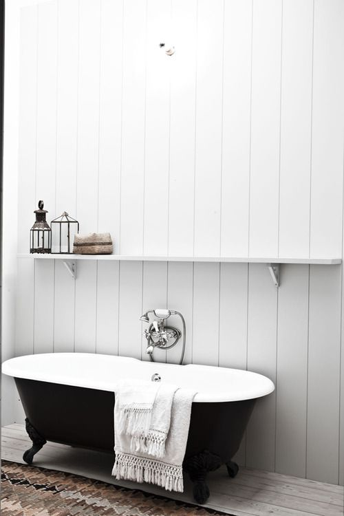 black and white clawfoot tub. I was about to buy a clawfoot tub off of craigslist  then i