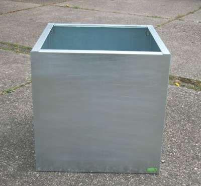 Pflanztrog isoliert feuerverzinkt/ RAL 7016/L=100x40x40cm