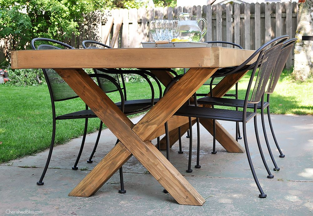 Diy Outdoor Table Woodworking Diy Outdoor Table