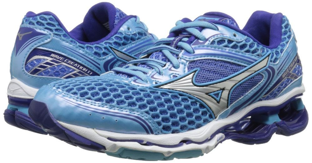 on sale 3e764 22693 Mizuno Wave Creation 17 Womens Running Shoes Blue Grotto Silver Size 8 NIB…