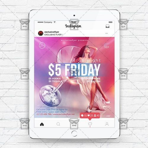 Friday Night - Instagram Flyer Template - Free download ...