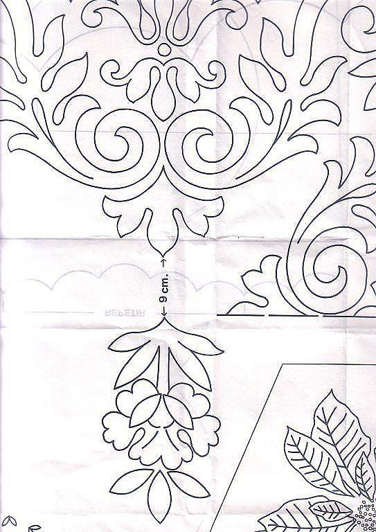 Patrones de dibujos para pintar manteles - Imagui | patron para ...