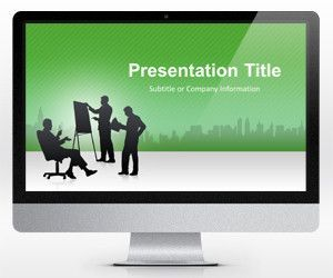 business powerpoint template green (16:9) | random | pinterest, Powerpoint templates