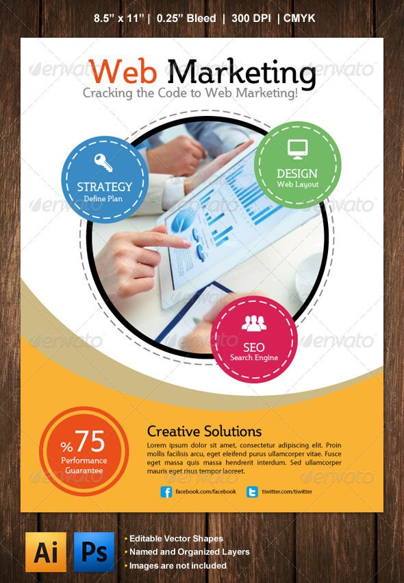 Marketing Flyer #GraphicRiver Marketing Flyer is ideal for promotion