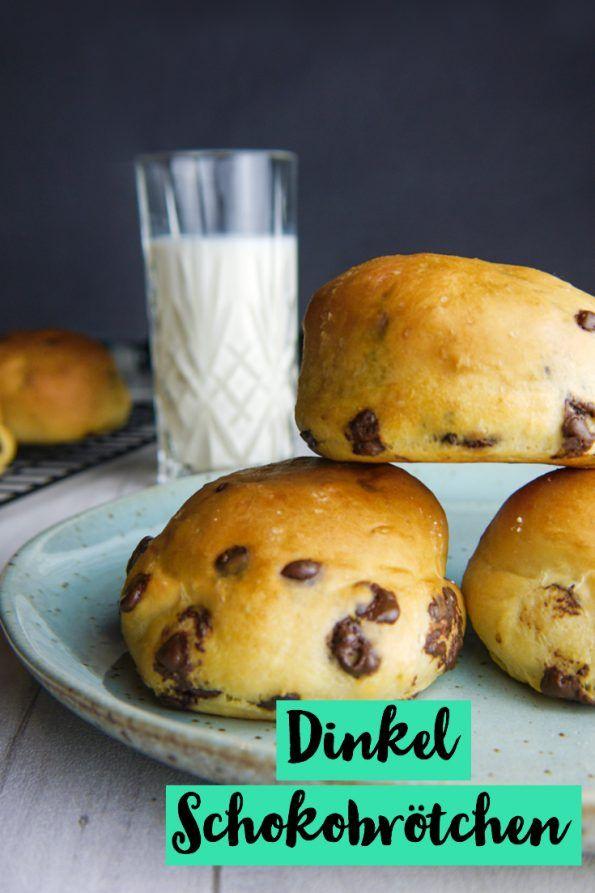 Dinkel Schokobrötchen - zuckerfrei und ohne Weizen