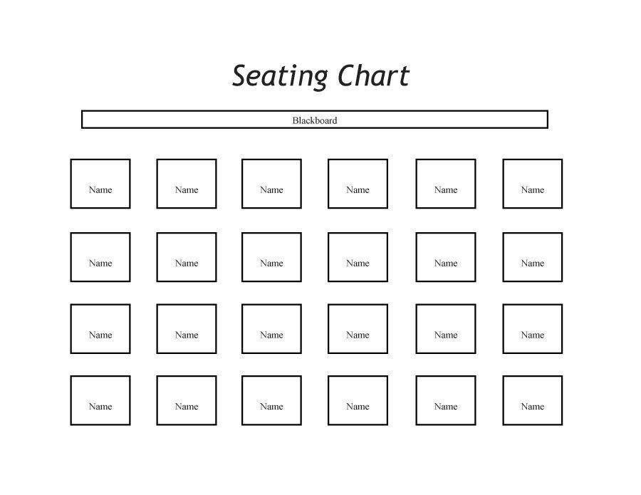 28 Printable Seating Chart Template In 2020 Seating Chart