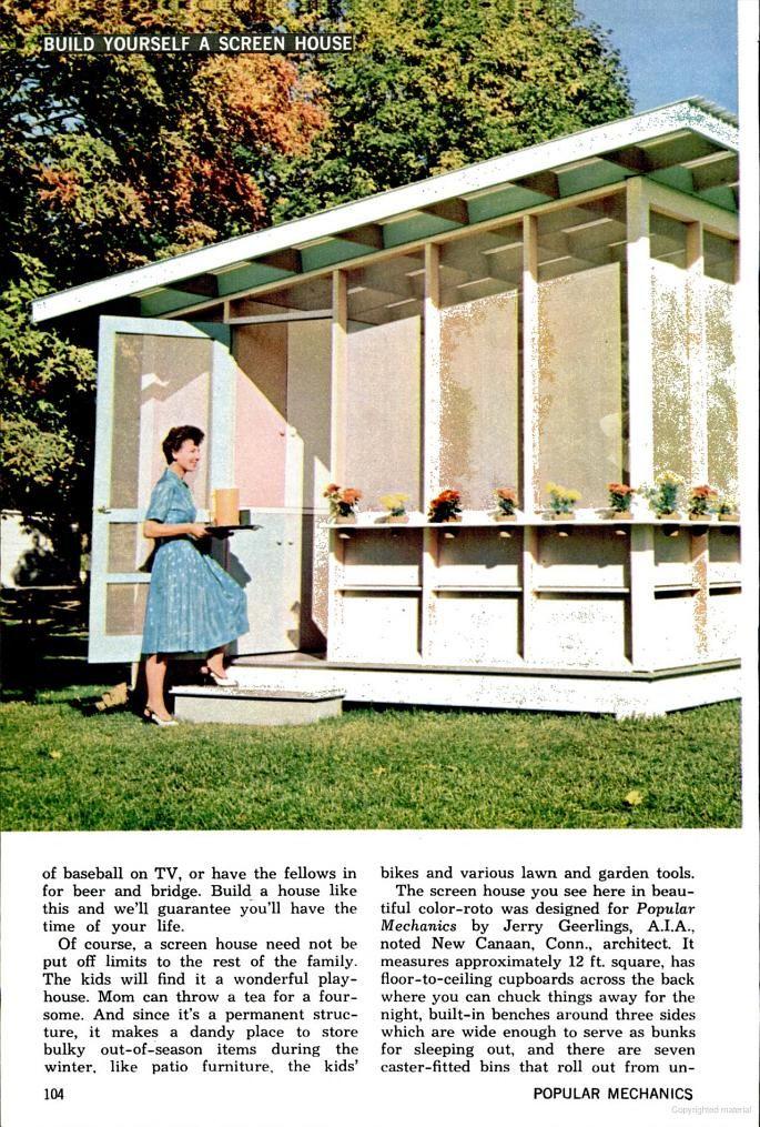 Popular Mechanics Screen House Plans With Images Screen House Outdoor Inspirations Big Backyard