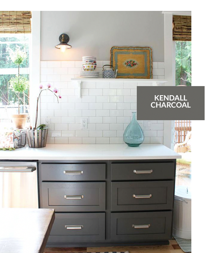 Color: Benjamin Moore Kendall Charcoal #kitchencolourgrey ...
