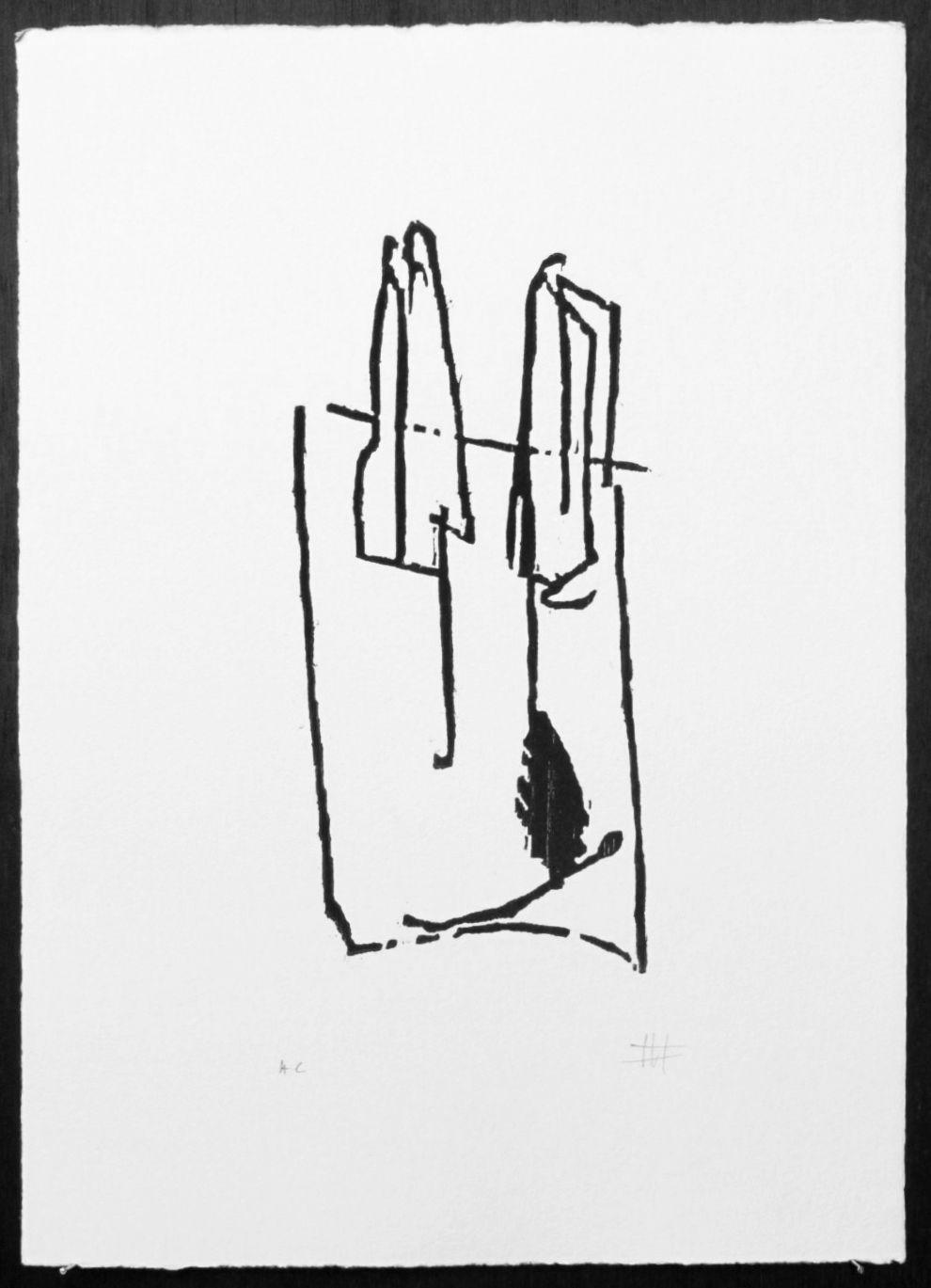 Xilografía del libro homenaje a Jorge Guillen de Koldobika Jauregi